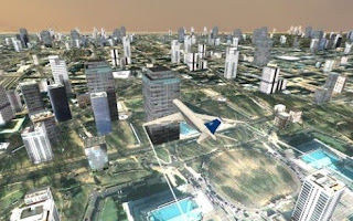 Screenshots of the Flight simulator City plane for Android tablet, phone.