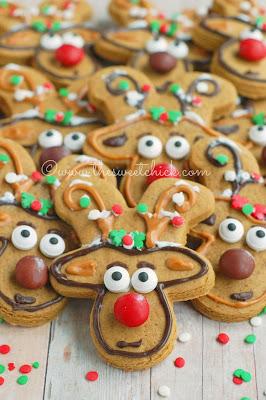 Reindeer Gingerbread Cookies www.thesweetchick.com