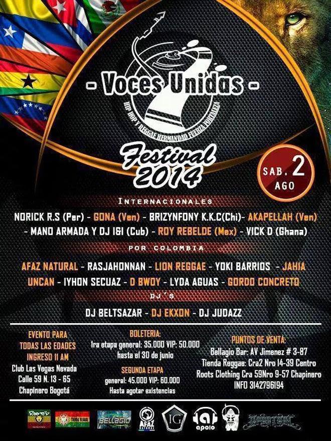 FESTIVAL VOCES UNIDAS 2014
