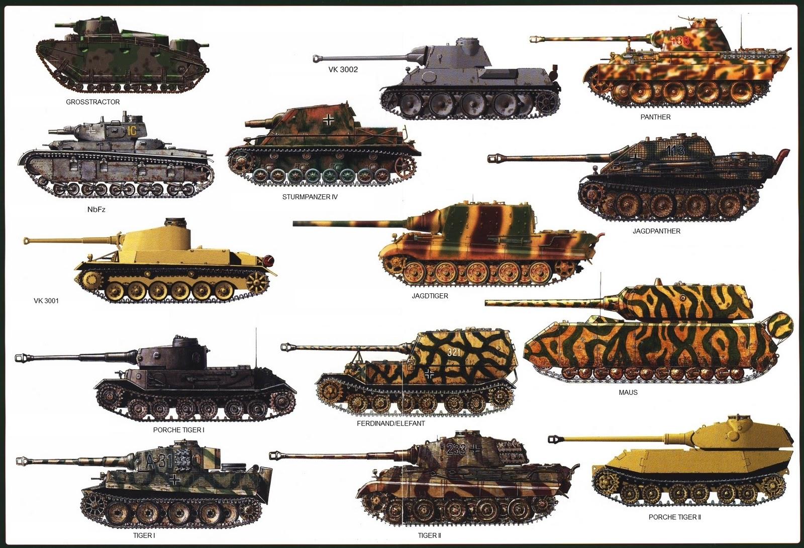 German Tank Camouflage Patterns