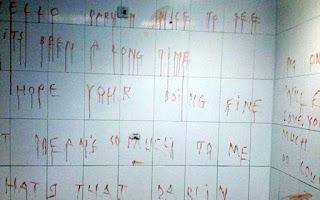 Τρομακτικό μήνυμα γραμμένο με αίμα σε σταθμό λεωφορείων (εικόνες)