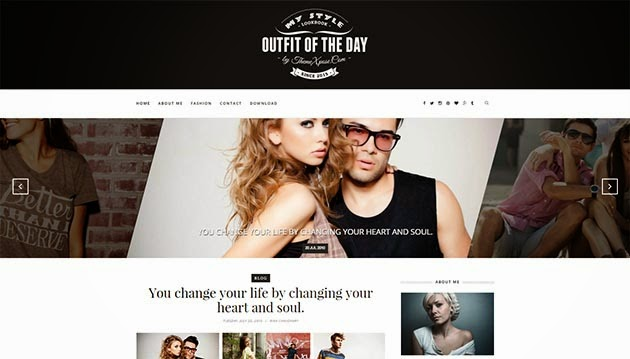 Outfit Light Responsive Template Blogger Template