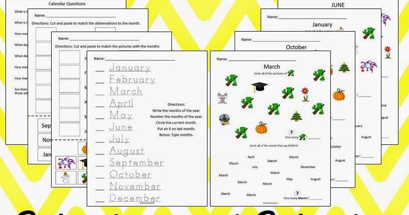 April Calendar Questions : Breezy special ed monthly calendar worksheets august