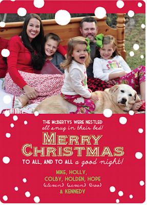 While I'm Waiting...Christmas card idea - nestled all snug in their bed!