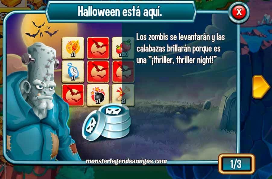 imagen de la isla halloween esta aqui en monster legends