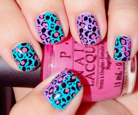 leopard nails uñas leopardo esmalte colores