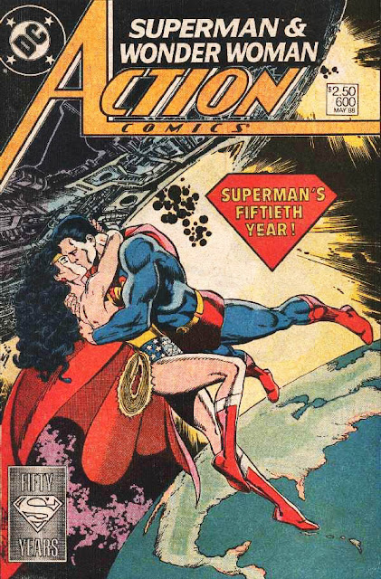 Action Comics 600 Superman Kisses Wonder Woman