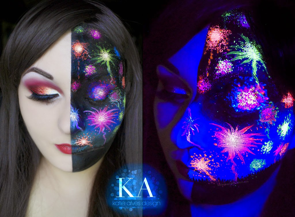 04-Black-Light-Fireworks-Katie-Alves-Makeup Paint Effects-www-designstack-co