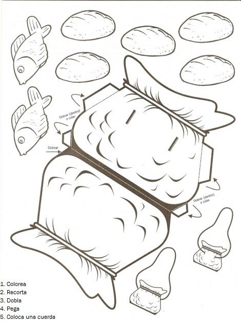 Sgblogosfera amigos de jes s el milagro de los panes y for Five loaves and two fishes coloring page