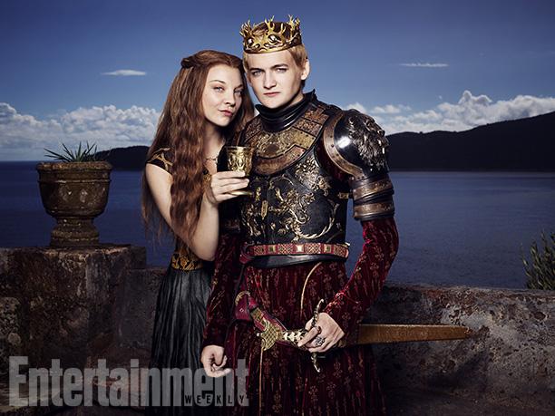 Margaery Tyrell (Natalie Dormer) y el Rey Joffrey Baratheon (Jack Gleeson)