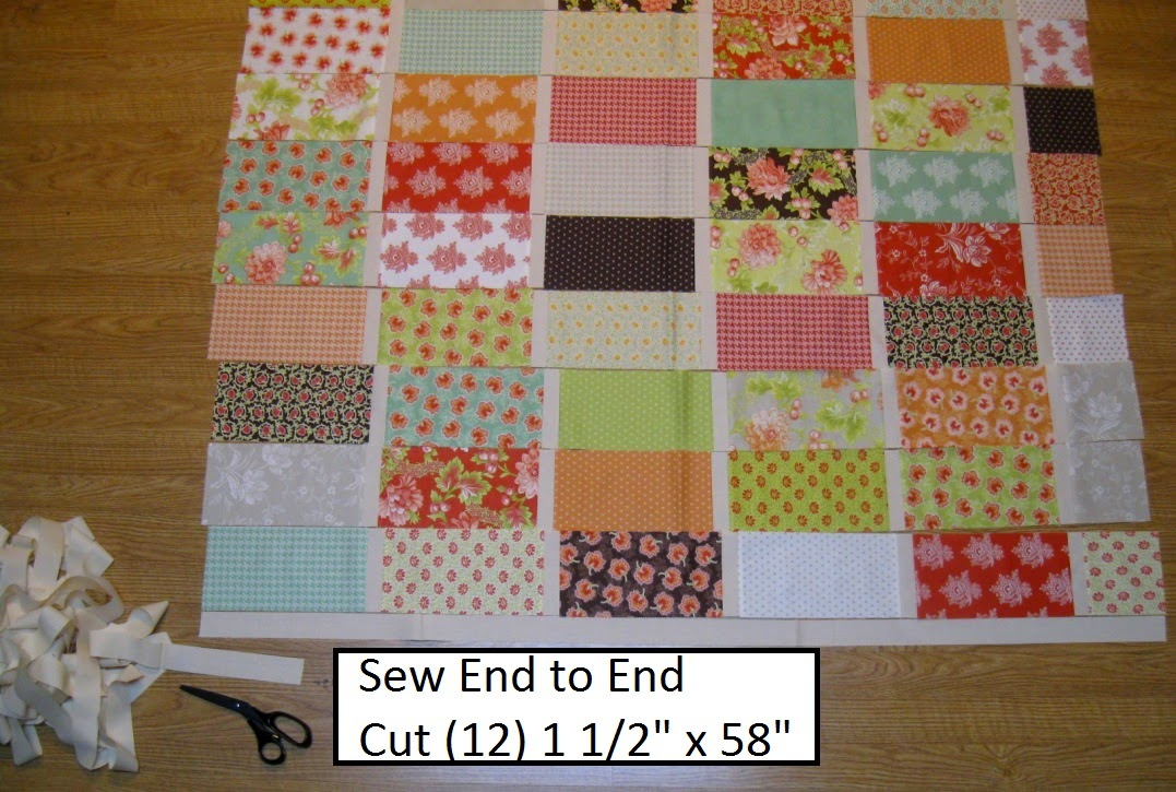 Happy Quilting: The Wall - A Brick Wall Quilt Tutorial Featuring The