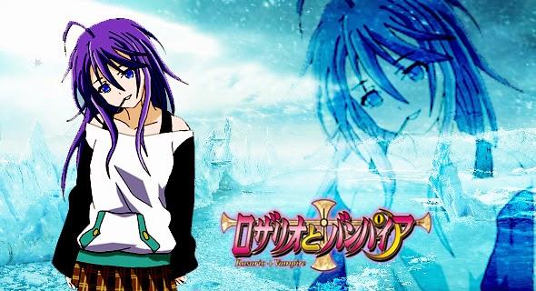 Wallpaper Mizore Shirayuki (Rosario Vampire)