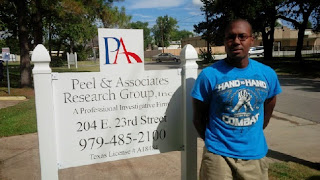 Intern Marcus Ussery worked in a private investigator's office.