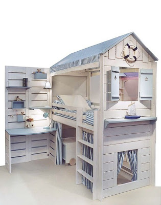 Fotos de camas originales para ni os dormitorios con estilo - Camas en forma de casa ...