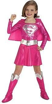 Girls Pink Supergirl Costume