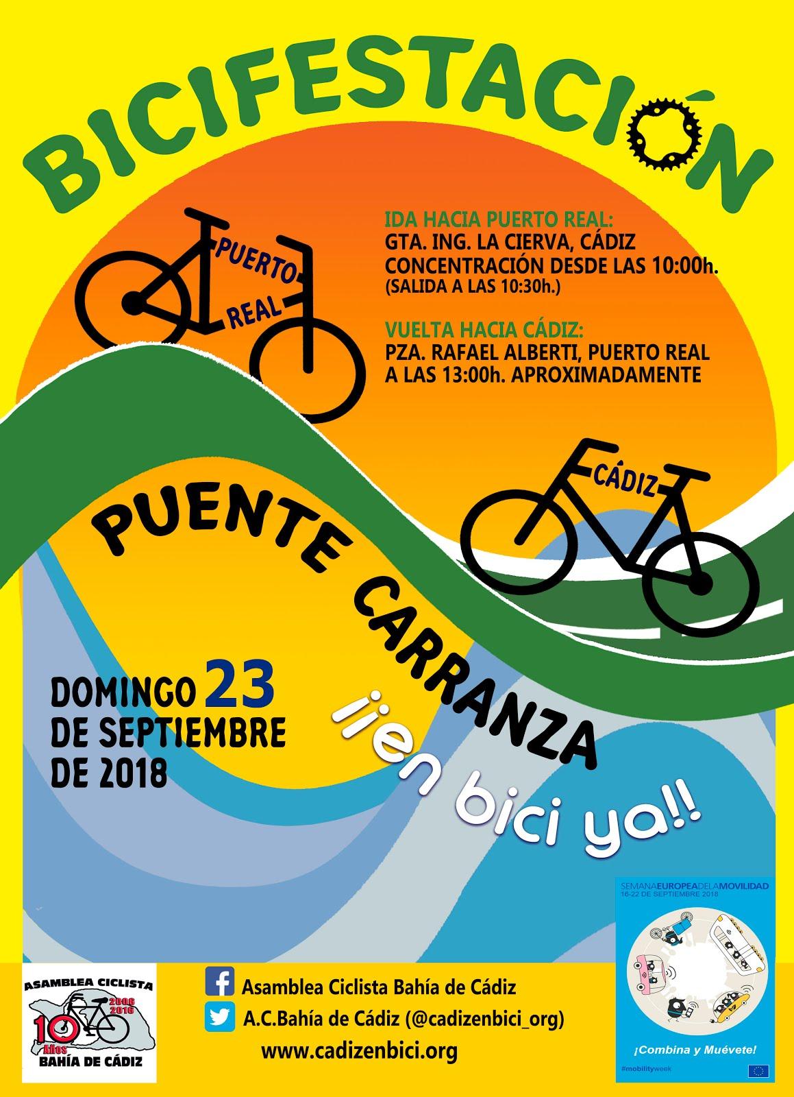 ¡Carril bici por el puente Carranza!