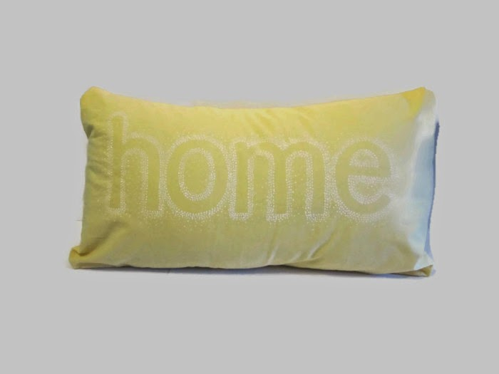 lemon yellow cushion cover