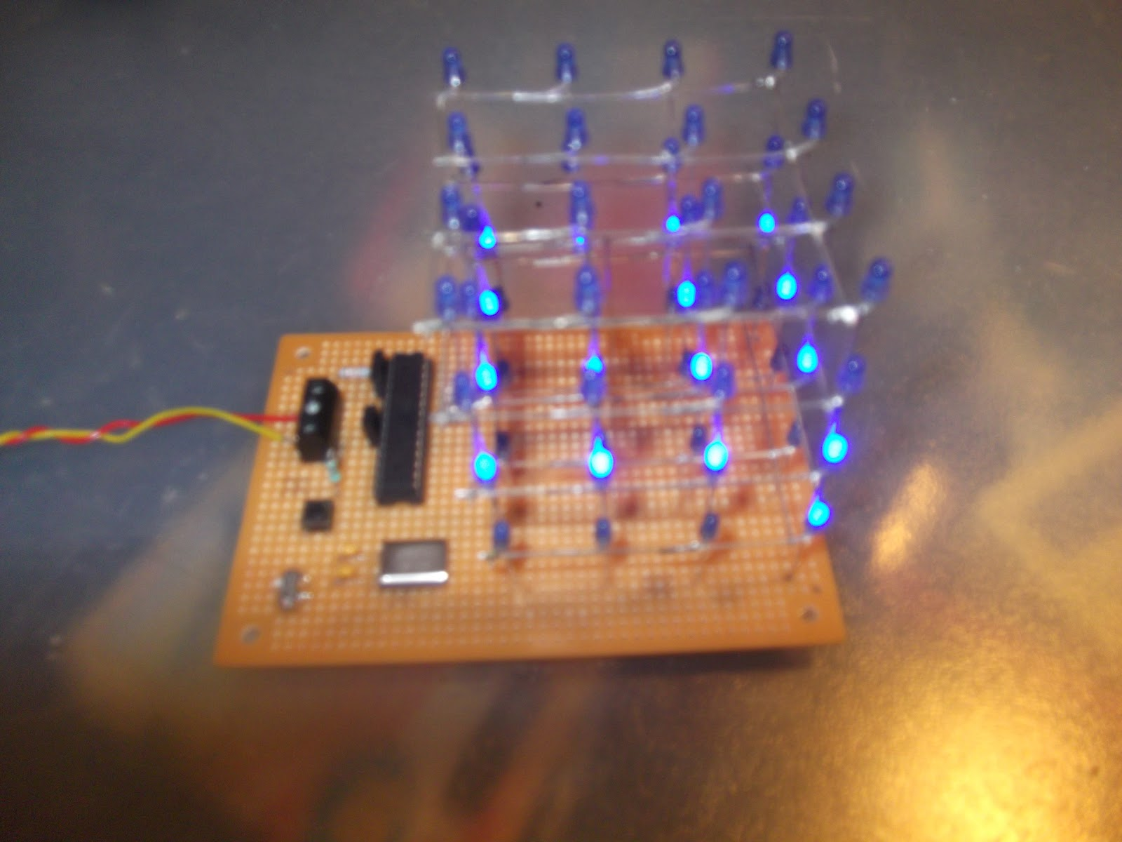 4x4x4 led cube for arduino