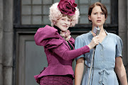 Effie Trinket and Katniss. She is Volunteer as Tribute