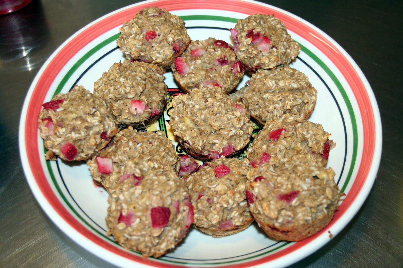 Circles Of Sunshine: Strawberry Banana Oatmeal Muffins-Gluten, Sugar ...