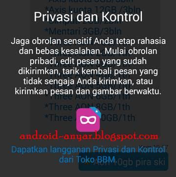 Privasi dan Kontrol di BBM 2.12 Android