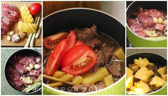 Cách làm thịt bò kho dứa thơm ngon