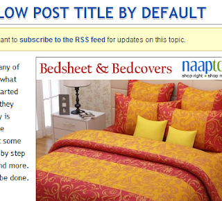 How to display google ads below post title by default