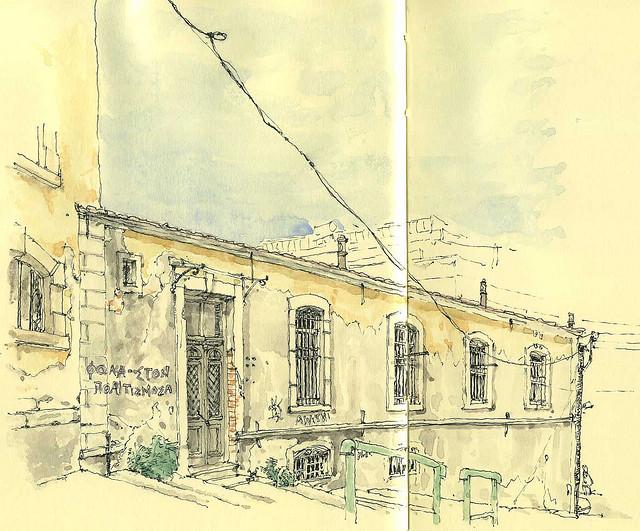 24-Tobacco-In-Kavalla-Mattias-Adolfsson-Surreal-Architectural-Moleskine-Drawings-www-designstack-co