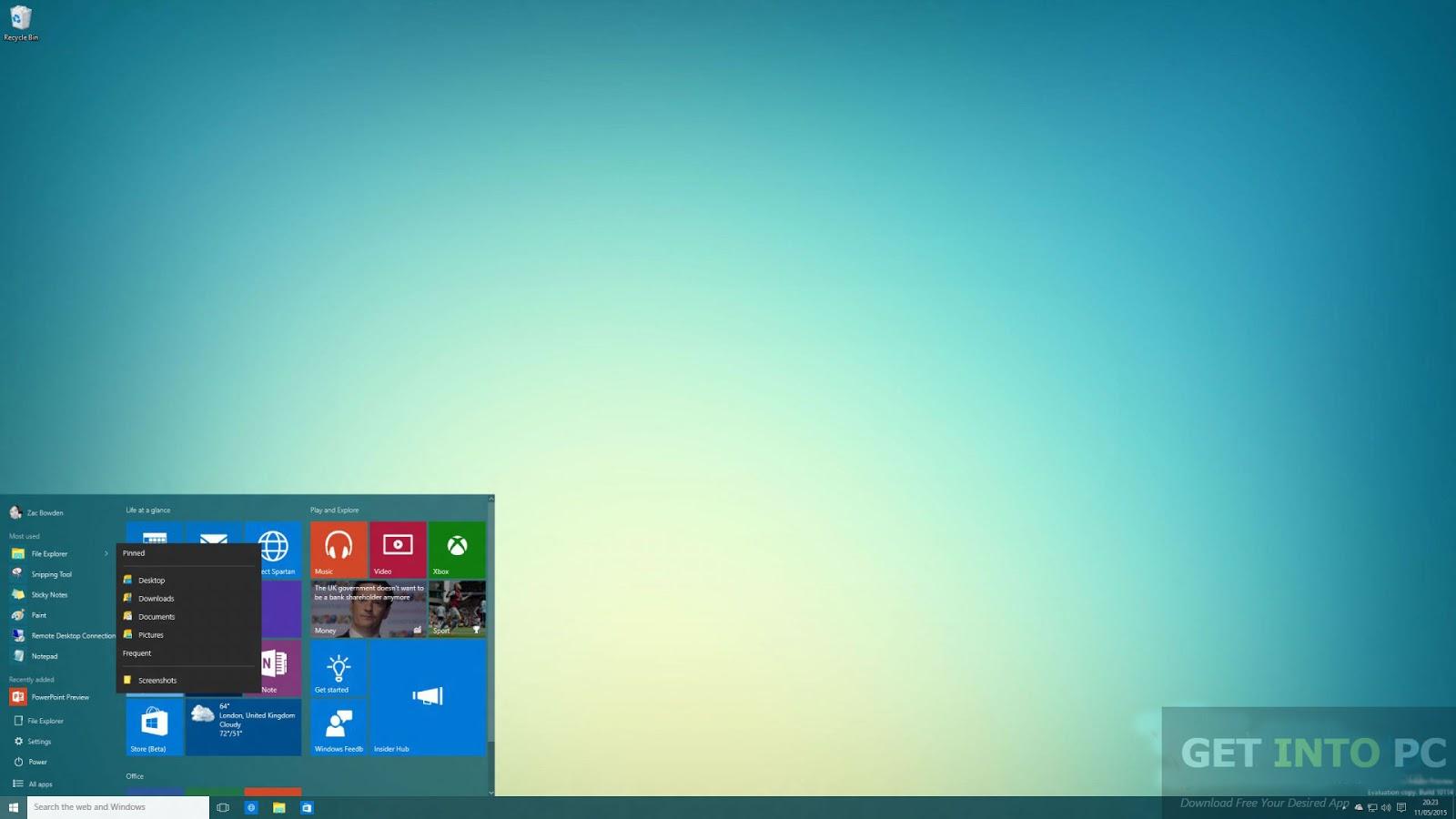 Rahulteachspot29 windows 10 build 10135 iso 32 64 bit for Window 64 bit