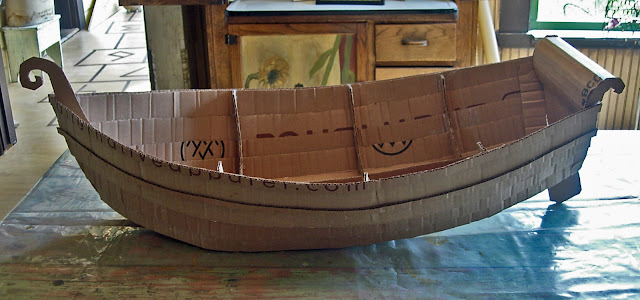 how to build a cardboard boat that floats