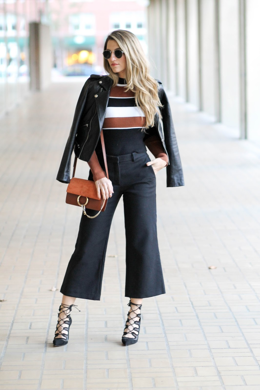 how to style cropped flared pants