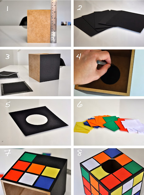 how to make rubik's rubix cube tissue box cover holder the big bang theory