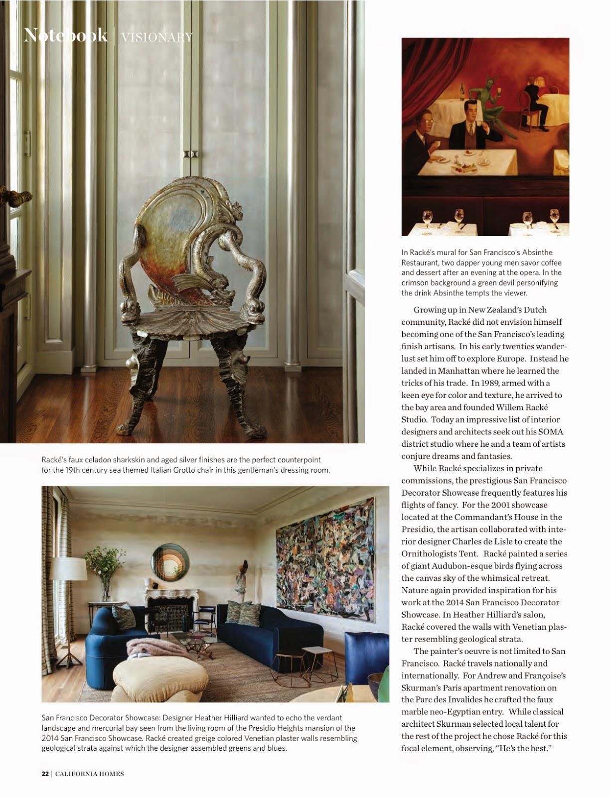 Decorative Painter Willem Rack California Homes Magazine Fall 2014