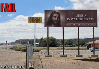 jesus is watching adult movies funny sign
