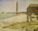 Georges Seurat (27) - El faro de Honfleur (1886)