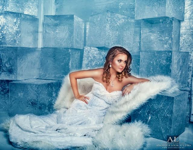 Фотосессия снежная королева