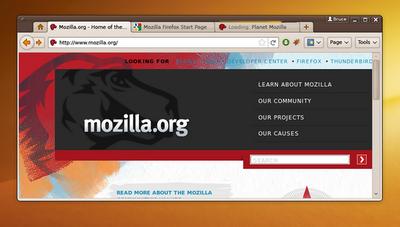 Firefox 4.0 Ubuntu Linux Firefox4mockup