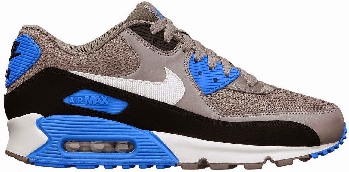 premium selection cb9d1 56765 Nike Air Max 90 Essential Sneakers in the Wolf GreyWhite-Armory Navy ...