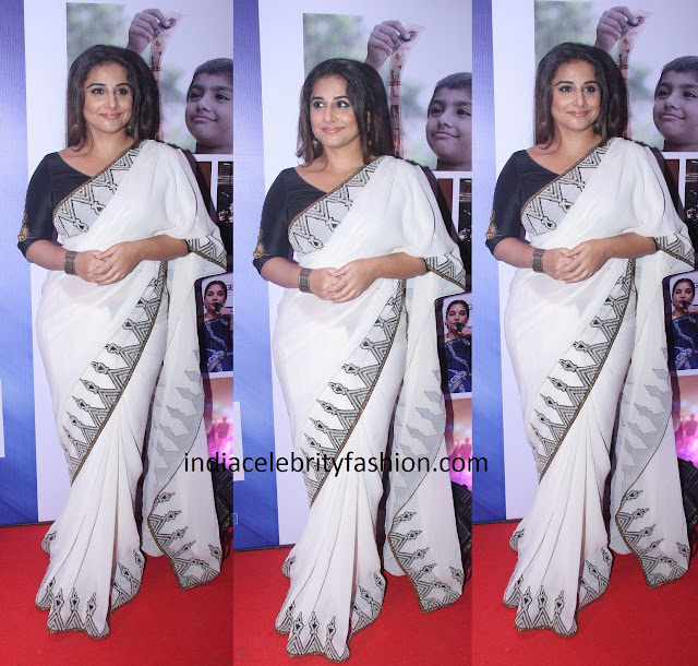 Vidya Balan in Cotton Joy Mitra Saree