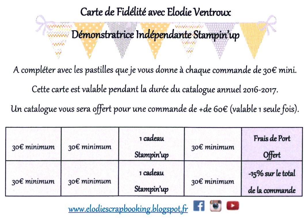 Carte de Fidélité Stampin'Up !