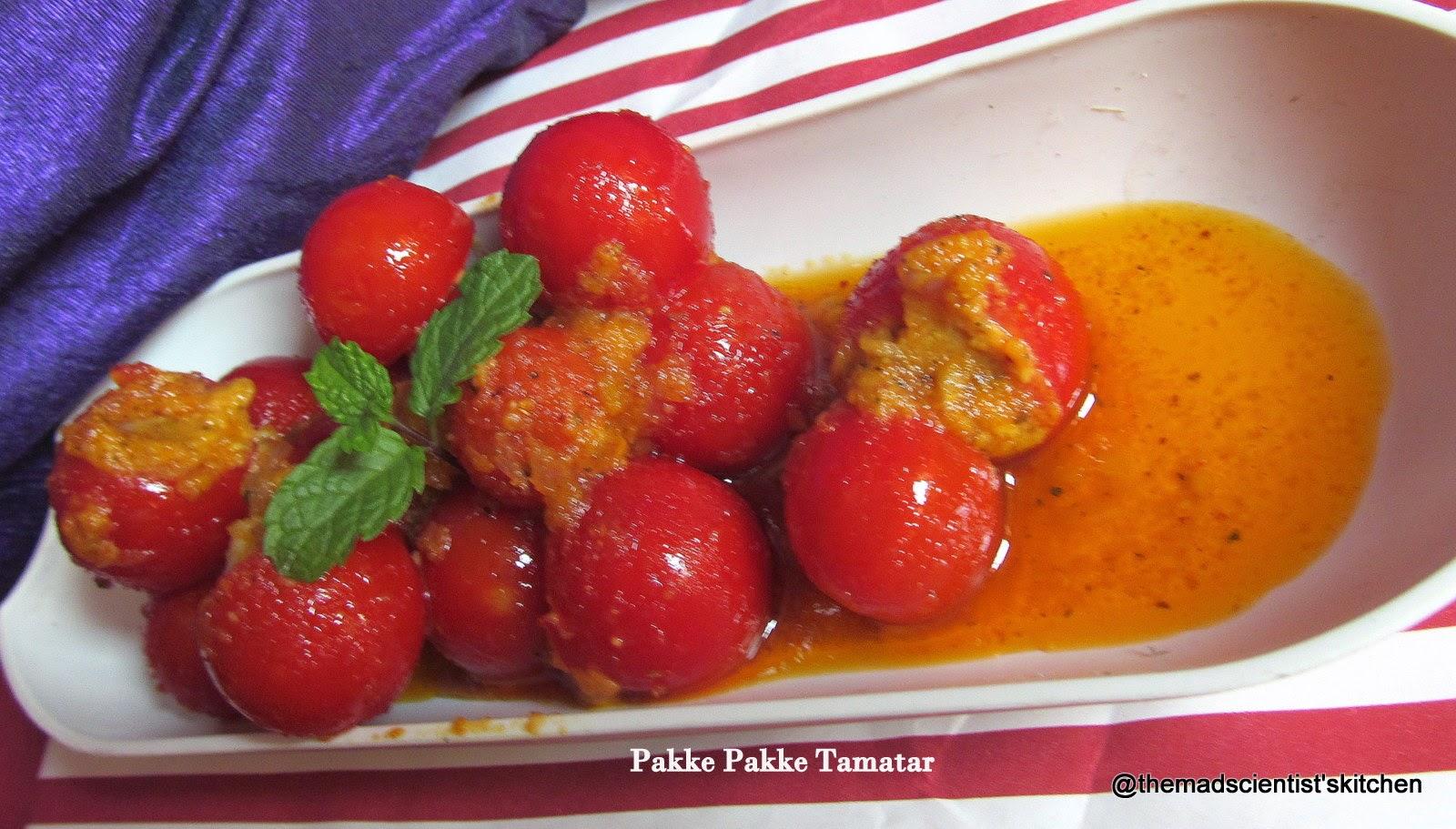 pakke pakke tamatar/ ripe stuffed cherry tomato
