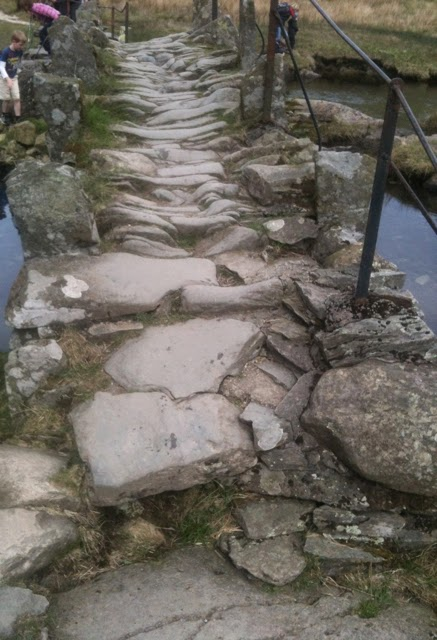 crossing Slaters Bridge, Little Langdale