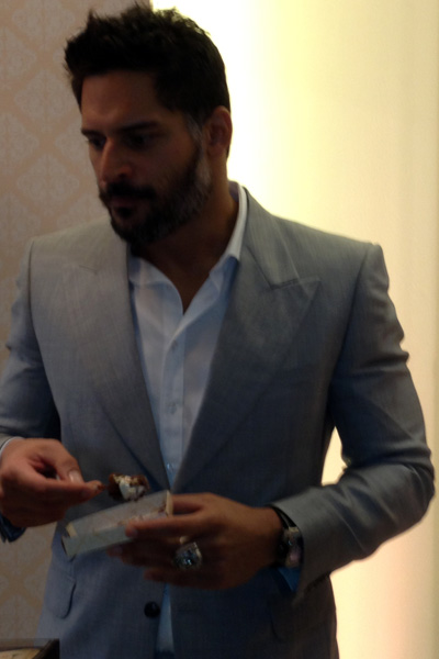 Joe Manganiello at the Magnum Pleasure Store