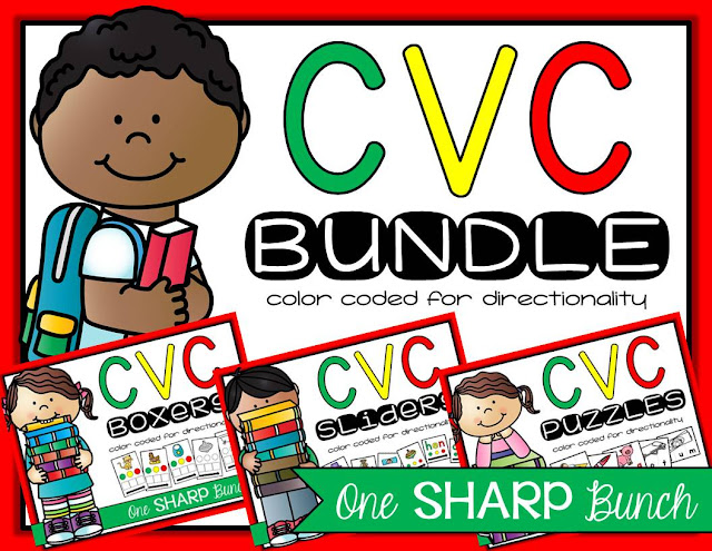 Help students easily identify the beginning, middle, and ending sounds with these color coded hands-on CVC activities!