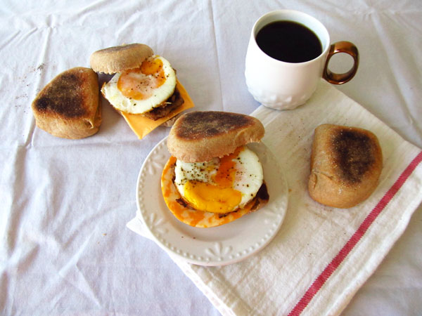 Sausage, Egg, and Cheese Breakfast Sandwich