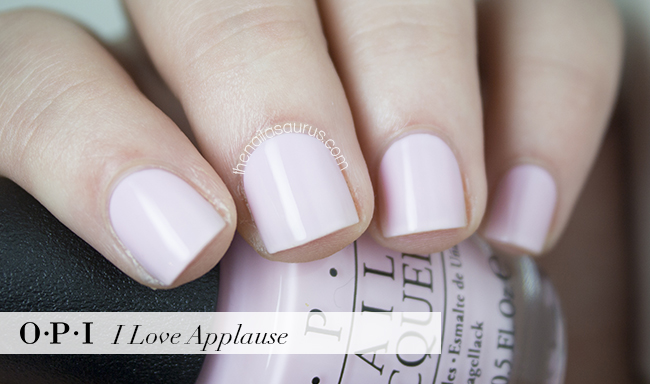 OPI I Love Applause Swatch | The Nailasaurus | British Nail Blog