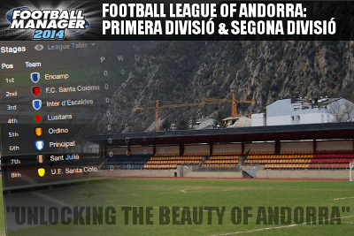 Football Manager 2014 Andorra Database