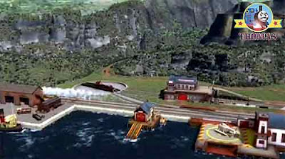 New Sodor Island search and rescue center building close to the sea Thomas and friends Rocky Harold