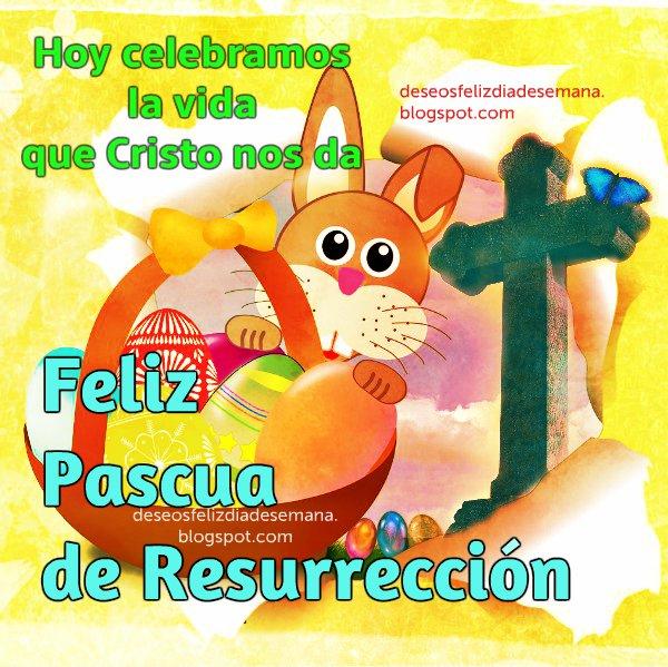 Feliz Pascua de Resurrección. 5 de Abril 2015, Semana Santa, Easter, tarjeta de pascuas. Imagen cristiana gratis para compartir por facebook.