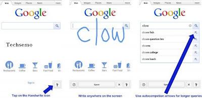 Google's Search In Cursive screenshot